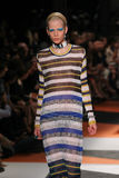 A model walks the runway during the Missoni show Royalty Free Stock Photos