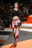 A model walks the runway during the Missoni show Stock Images