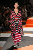 A model walks the runway during the Missoni show Stock Photography
