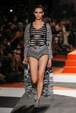 A model walks the runway during the Missoni show Royalty Free Stock Photo