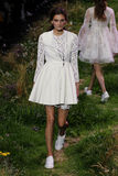 A model walks the runway during the Moncler Gamme Rouge show Royalty Free Stock Image