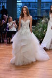 A model walks the runway at the Monique Lhuillier Fall 2017 Bridal collection show Stock Photo
