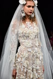 A model walks the runway at the Naeem Khan Fall 2017 Bridal collection show Stock Image
