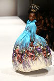 A model walks the runway at the Nancy Vuu fashion show Stock Image