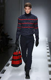 A model walks the runway at the Nautica Men's Fall 2016 fashion show Royalty Free Stock Images