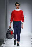 A model walks the runway at the Nautica Men's Fall 2016 fashion show Stock Images