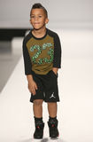 A model walks the runway at the Nike Levi's Kids fashion show during Mercedes-Benz Fashion Week Fall 2015 Royalty Free Stock Image