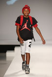 A model walks the runway at the Nike Levi's Kids fashion show during Mercedes-Benz Fashion Week Fall 2015 Stock Photos