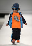 A model walks the runway at the Nike Levi's Kids fashion show during Mercedes-Benz Fashion Week Fall 2015 Royalty Free Stock Images