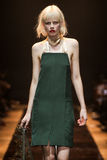 A model walks the runway during the Nina Ricci show Stock Photography
