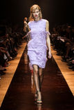 A model walks the runway during the Nina Ricci show Royalty Free Stock Photo