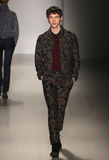 A model walks the runway at Orley fashion show during MBFW Fall 2015 Stock Image