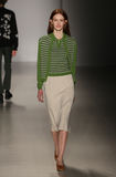 A model walks the runway at Orley fashion show during MBFW Fall 2015 Stock Photo