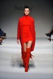A model walks the runway at Ozgur Masur show Stock Image
