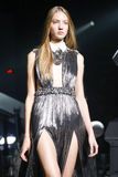 A model walks the runway during the Philipp Plein show Stock Photography
