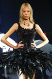 A model walks the runway during the Philipp Plein show Royalty Free Stock Images