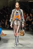 A model walks the runway during the Prada fashion show Royalty Free Stock Photos