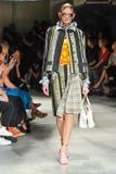 A model walks the runway during the Prada fashion show Stock Photo