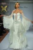 Model walks runway at the Prina Tornai Fall 2015 Bridal collection Royalty Free Stock Images