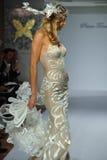 Model walks runway at the Prina Tornai Fall 2015 Bridal collection Stock Photography