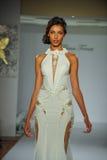 Model walks runway at the Prina Tornai Fall 2015 Bridal collection Stock Photos