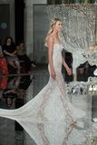 A model walks the runway for Pronovias  Bridal show Fall/Winter 2018 Collection Stock Photo