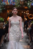 A model walks the runway at the Sachin and Babi Spring/Summer Bridal 2018 show Stock Photo