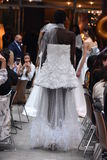 A model walks the runway at the Sachin and Babi Spring/Summer Bridal 2018 show Stock Photography