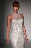 A model walks runway at Sottero and Midgley fashion show during Fall 2015 Bridal Collection Royalty Free Stock Image