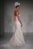 A model walks runway at Sottero and Midgley fashion show during Fall 2015 Bridal Collection Royalty Free Stock Photos