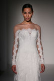 A model walks runway at Sottero and Midgley fashion show during Fall 2015 Bridal Collection Stock Photos