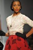 A model walks the runway at Tatyana Designs Royalty Free Stock Image