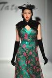 A model walks the runway at Tatyana Designs Stock Photography