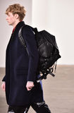 A model walks the runway at Tim Coppens fashion show during the New York Fashion Week Men's Fall/Winter 2016. NEW YORK, NY - FEBRUARY 03: A model walks the stock photo