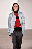 A model walks the runway at Tim Coppens fashion show during the New York Fashion Week Men's Fall/Winter 2016. NEW YORK, NY - FEBRUARY 03: A model walks the royalty free stock images