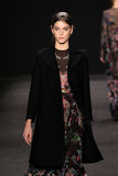 Model walks the runway at the Vivienne Tam fashion show during Mercedes-Benz Fashion Week Fall 2015 Stock Image