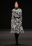 Model walks the runway at the Vivienne Tam fashion show during Mercedes-Benz Fashion Week Fall 2015 Royalty Free Stock Photography