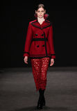 Model walks the runway at the Vivienne Tam fashion show during Mercedes-Benz Fashion Week Fall 2015 Royalty Free Stock Photo