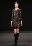 Model walks the runway at the Vivienne Tam fashion show during Mercedes-Benz Fashion Week Fall 2015 Stock Photos