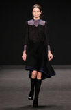 Model walks the runway at the Vivienne Tam fashion show during Mercedes-Benz Fashion Week Fall 2015. NEW YORK, NY - FEBRUARY 16: Model walks the runway at the Stock Images