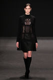 Model walks the runway at the Vivienne Tam fashion show during Mercedes-Benz Fashion Week Fall 2015 Royalty Free Stock Images