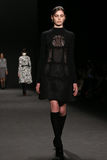 Model walks the runway at the Vivienne Tam fashion show during Mercedes-Benz Fashion Week Fall 2015. NEW YORK, NY - FEBRUARY 16: Model walks the runway at the stock image