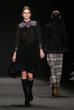Model walks the runway at the Vivienne Tam fashion show during Mercedes-Benz Fashion Week Fall 2015. NEW YORK, NY - FEBRUARY 16: Model walks the runway at the royalty free stock photo