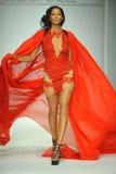A model walks runway at Walter Mendez show Royalty Free Stock Image