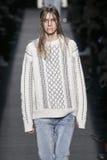 A model walks the runway wearing Alexander Wang during MBFW Stock Photography