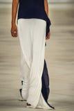 A model walks the runway wearing Ralph Lauren Spring 2016 during New York Fashion Week Stock Photo