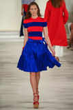 A model walks the runway wearing Ralph Lauren Spring 2016 during New York Fashion Week Royalty Free Stock Photos
