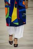 A model walks the runway wearing Ralph Lauren Spring 2016 during New York Fashion Week Royalty Free Stock Photo