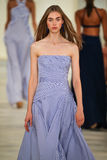 A model walks the runway wearing Ralph Lauren Spring 2016 during New York Fashion Week Royalty Free Stock Images