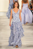 A model walks the runway wearing Ralph Lauren Spring 2016 during New York Fashion Week Royalty Free Stock Photography
